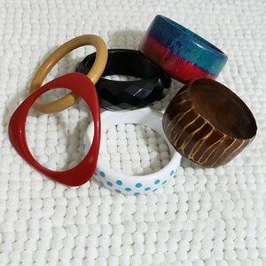 Vintage Lot of 6 Bangel Bracelets